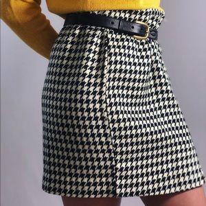*Vintage Houndstooth Hugo Buscati miniskirt*